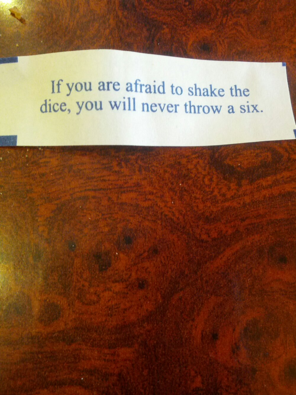 Today's Fortune Cookie