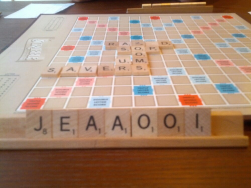 Gonna be a long Scrabble Game