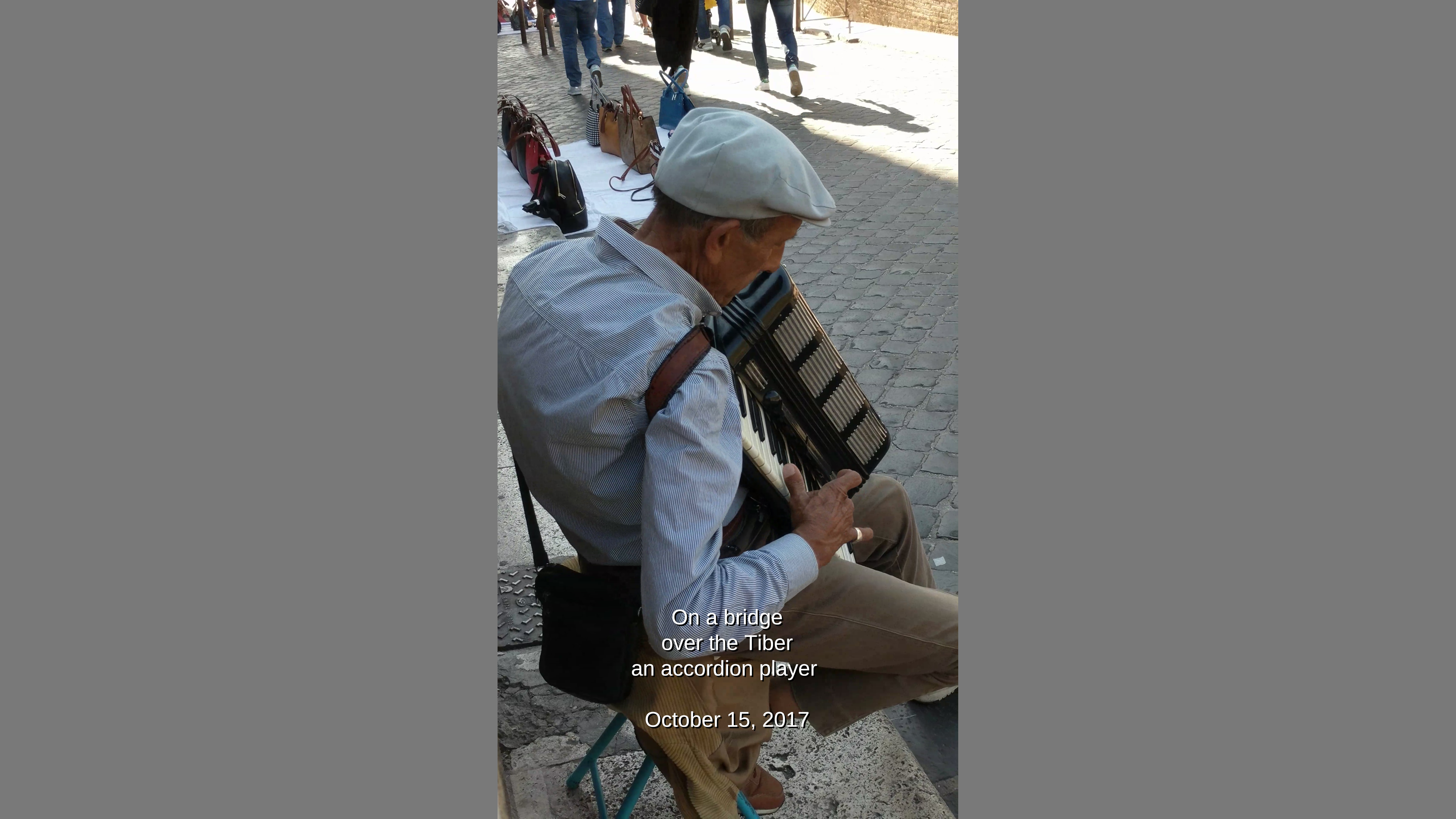 An accordion player in Rome