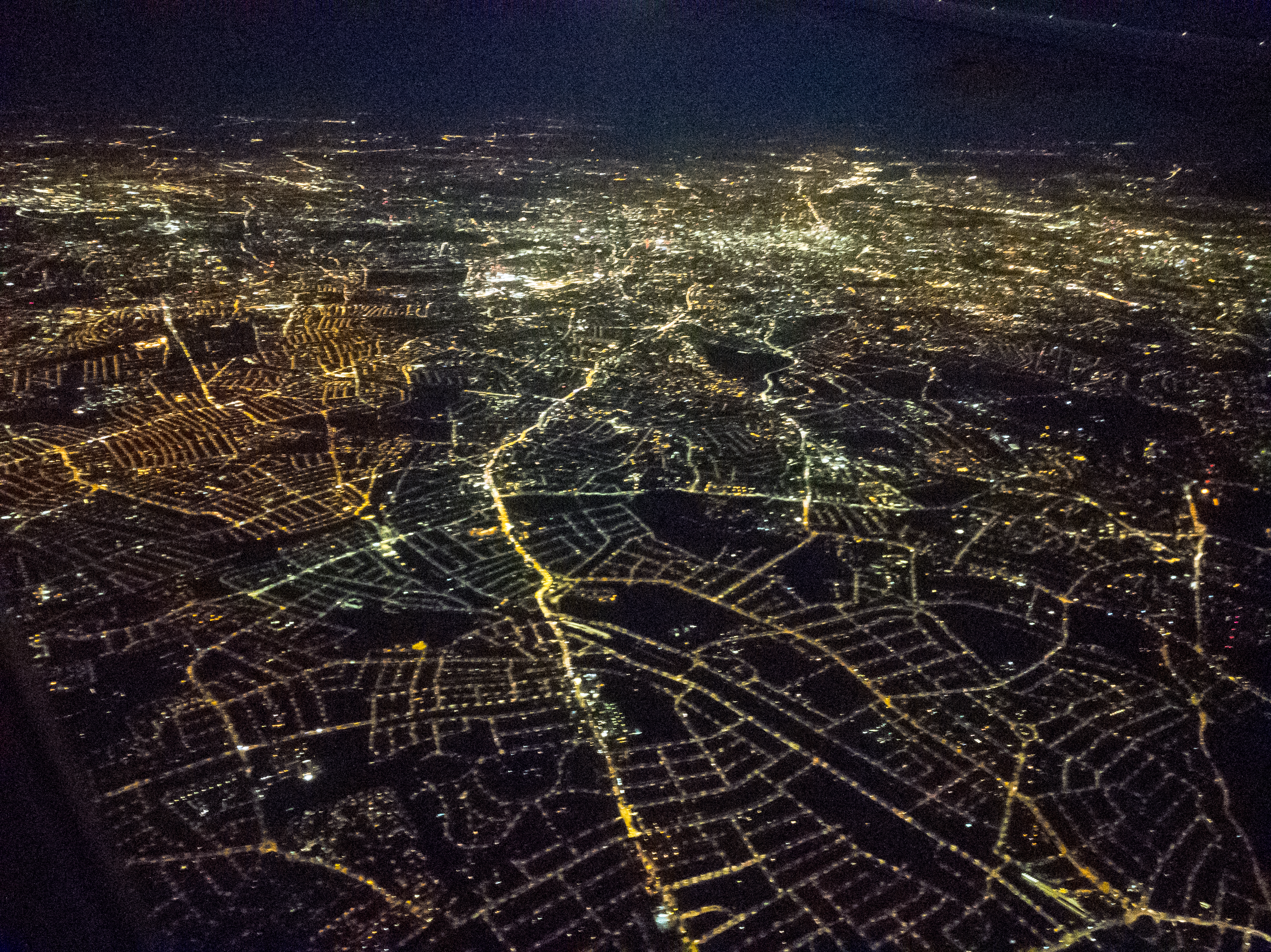 London, before dawn, from above